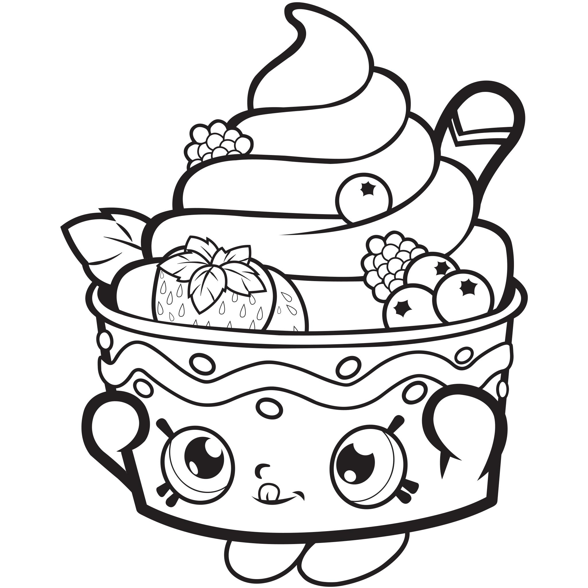 Shopkins Season 1 Frozen Yo-Chi Coloring Page