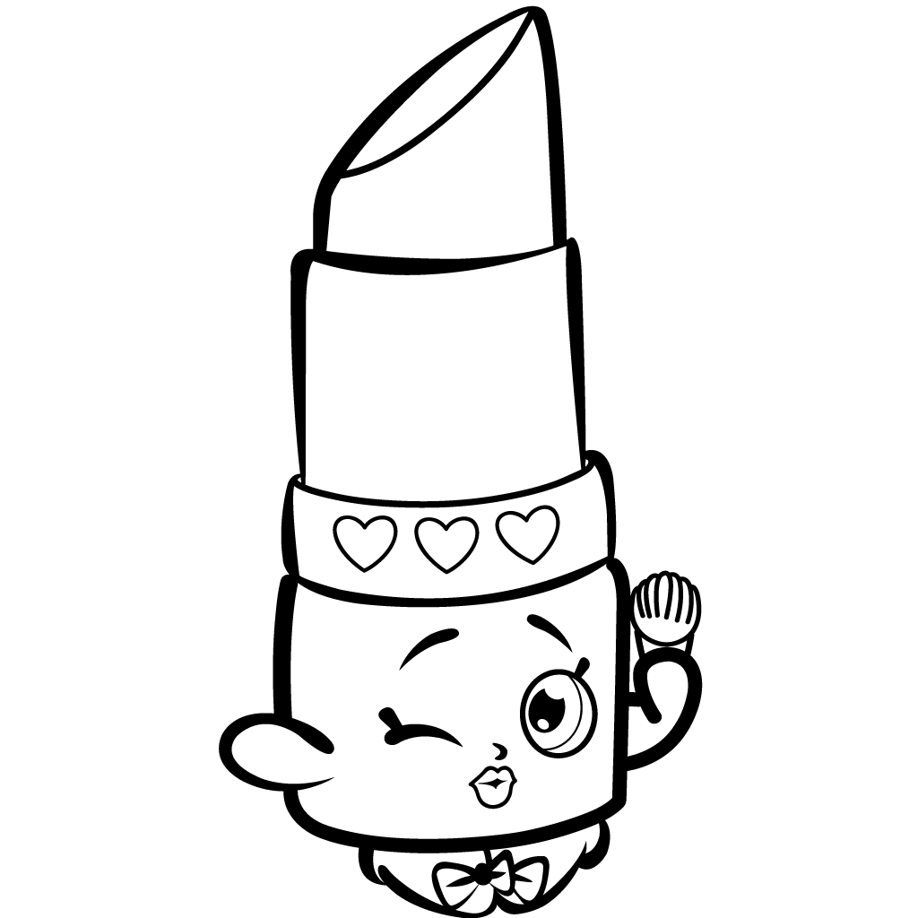Shopkins Season 1 Lippy Lips Coloring Page