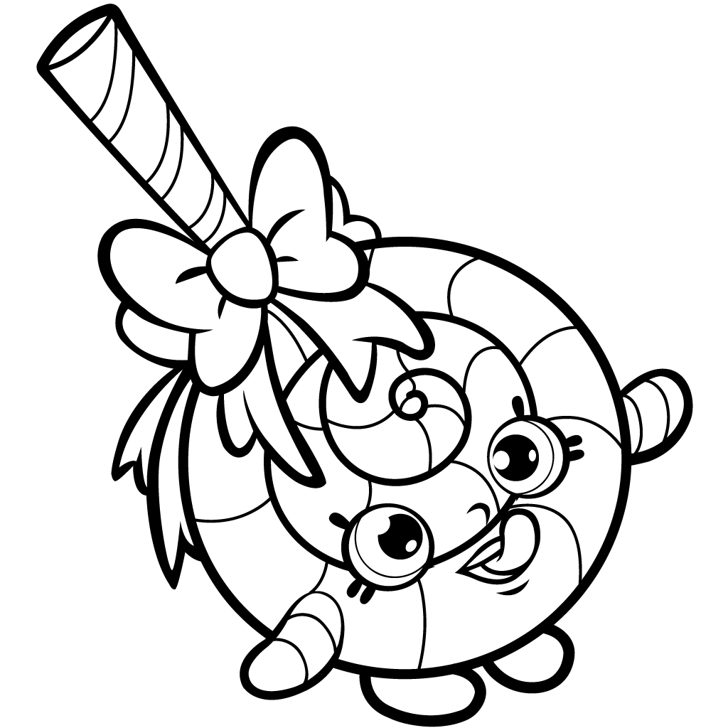 Shopkins Season 1 Lolli Poppins Coloring Page