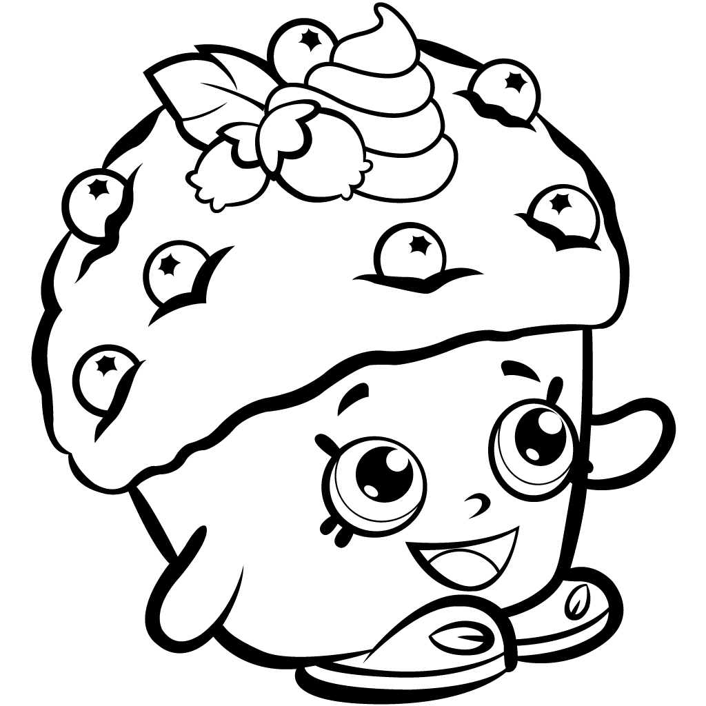 Shopkins Season 1 Mini Muffin Coloring Page