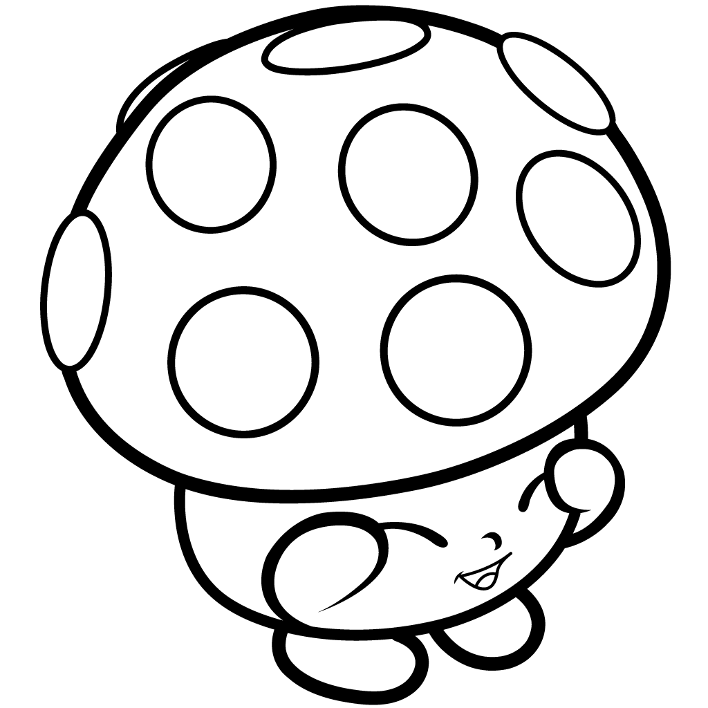 Shopkins Season 1 Miss Mushy-Moo Coloring Page