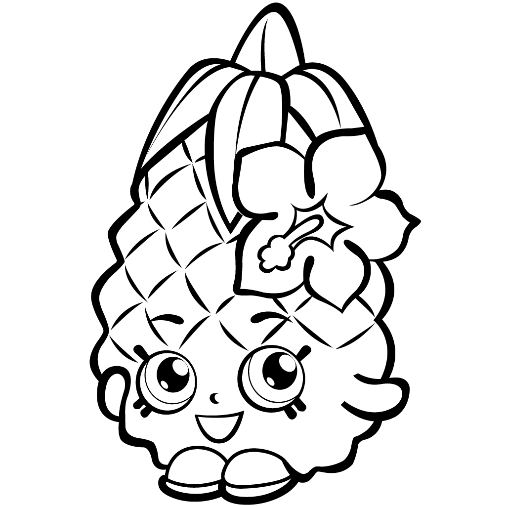 Shopkins Season 1 Pineapple Crush Coloring Page
