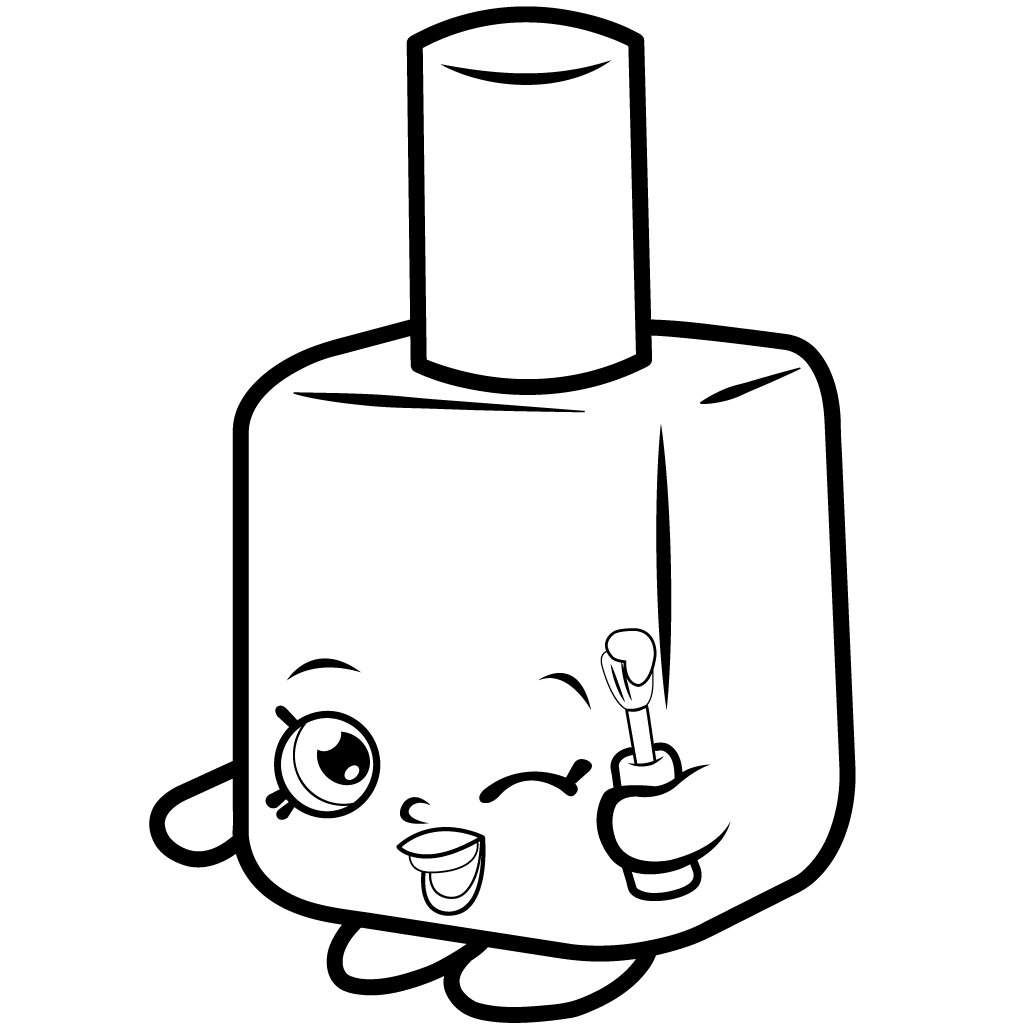 Shopkins Season 1 Polly Polish Coloring Page