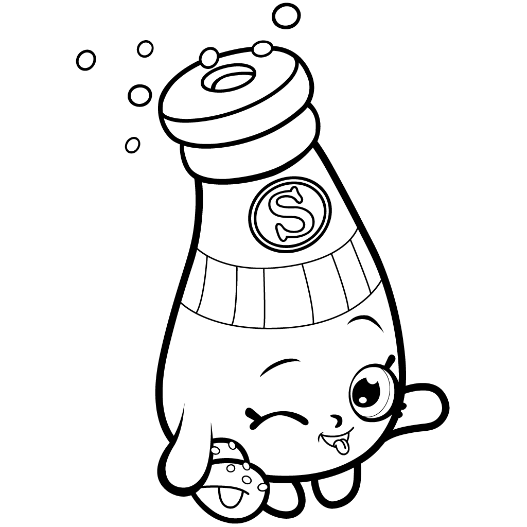 Shopkins Season 1 Sally Shakes Coloring Page