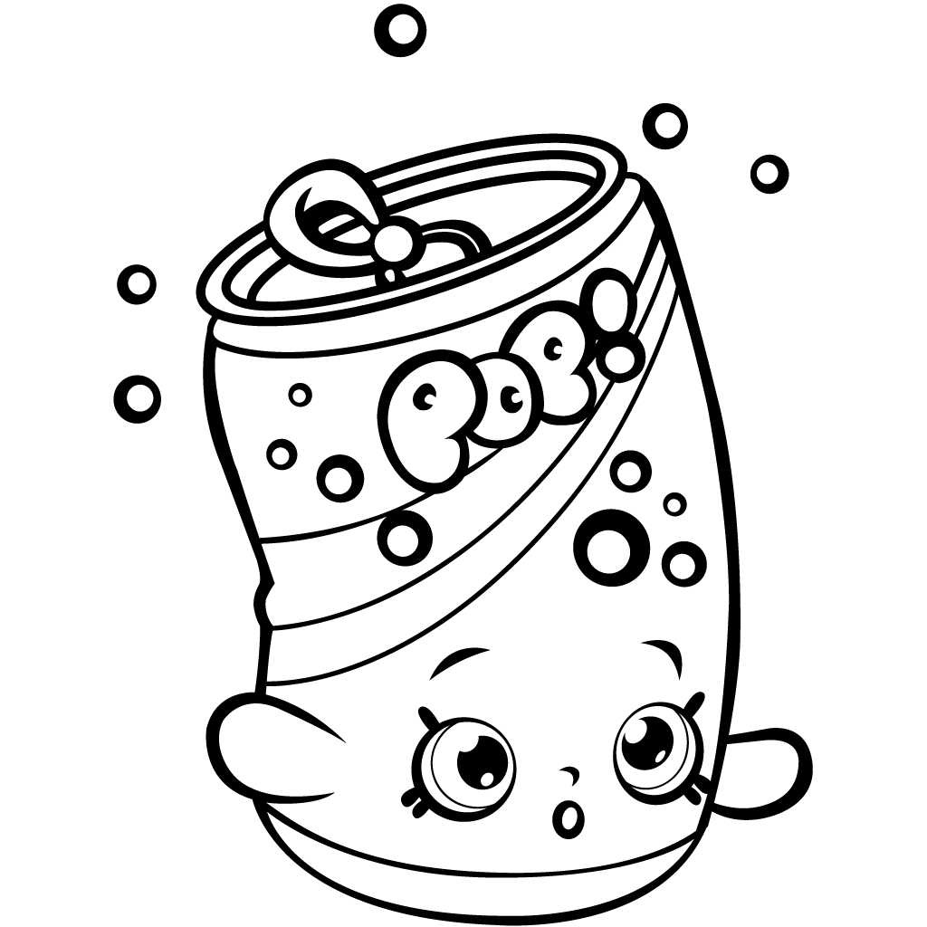Shopkins Season 1 Soda Pops Coloring Page