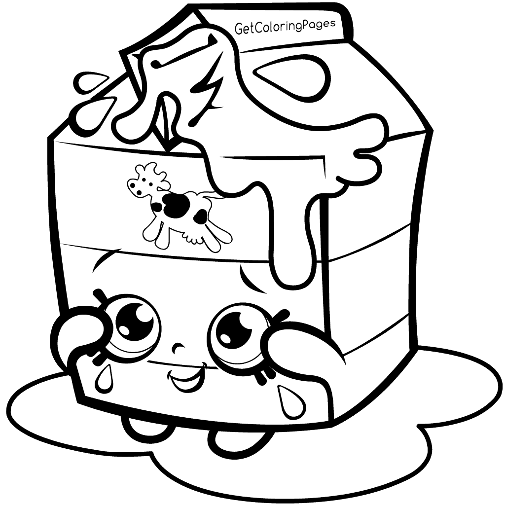 Shopkins Season 1 Spilt Milk Coloring Page