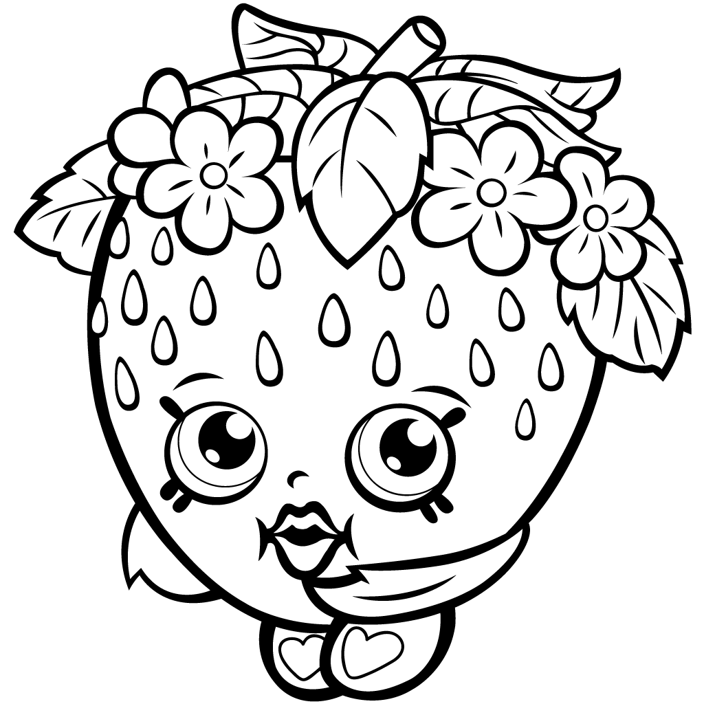 Shopkins Season 1 Strawberry Kiss Coloring Page
