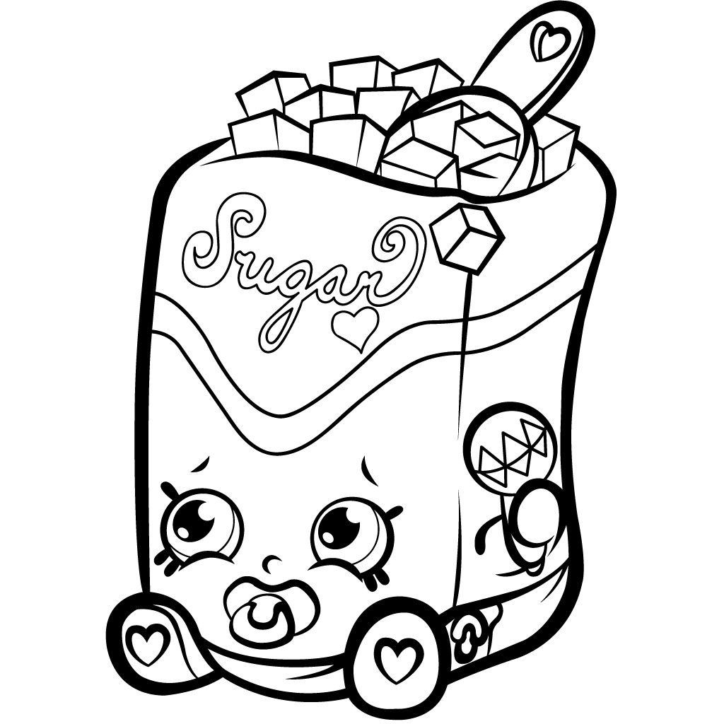 Shopkins Season 1 Sugar Lump Coloring Page