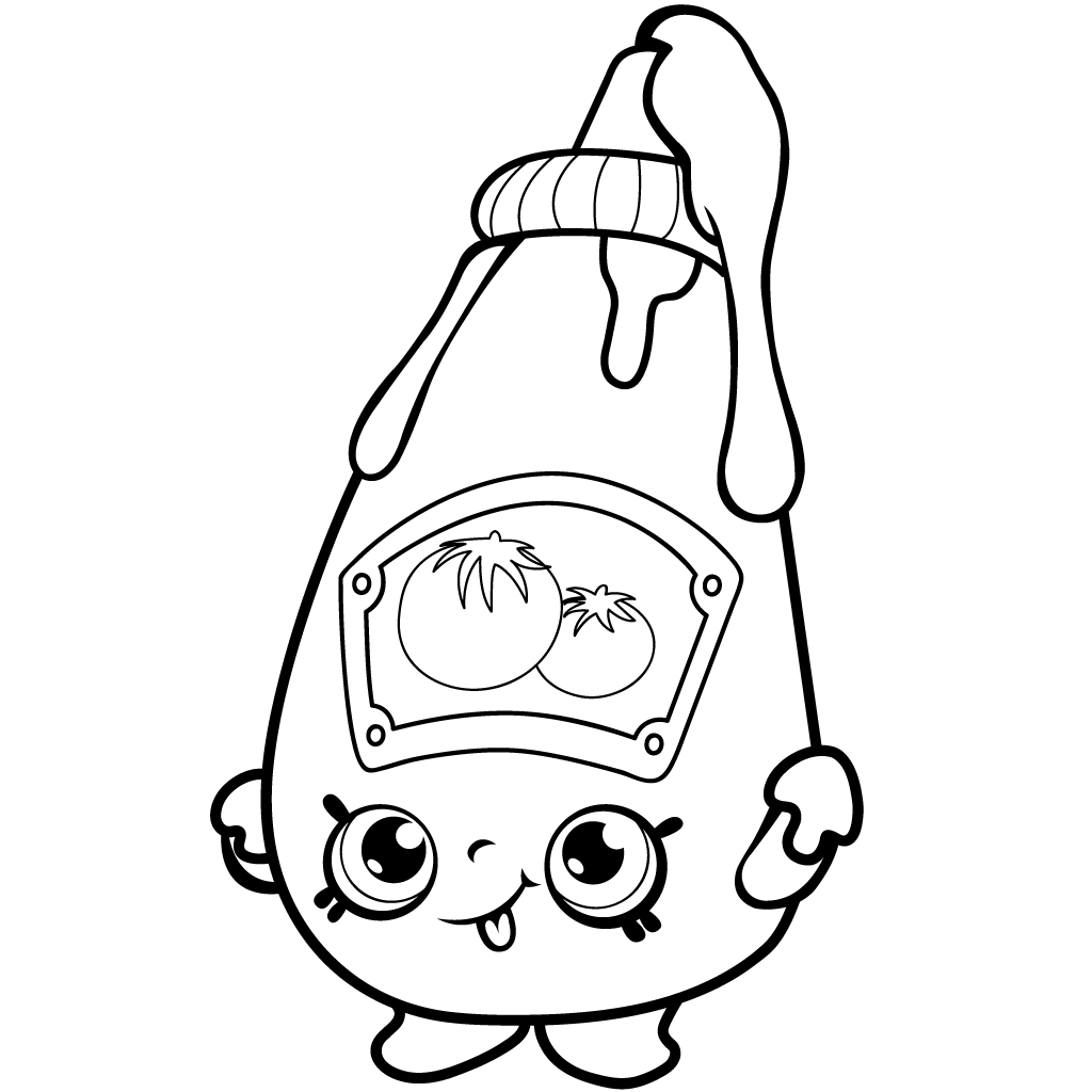 Shopkins Season 1 Tommy Ketchup Coloring Page