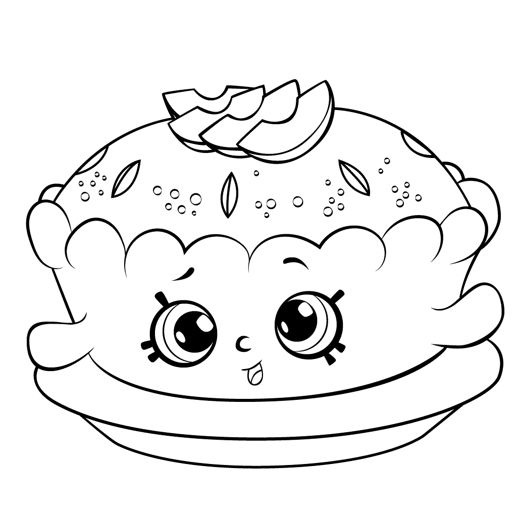 Shopkins Season 6 Apple Pie Coloring Page