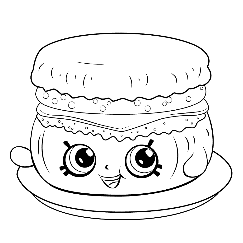 Shopkins Season 6 Barbie Breakfast Muffin Coloring Page