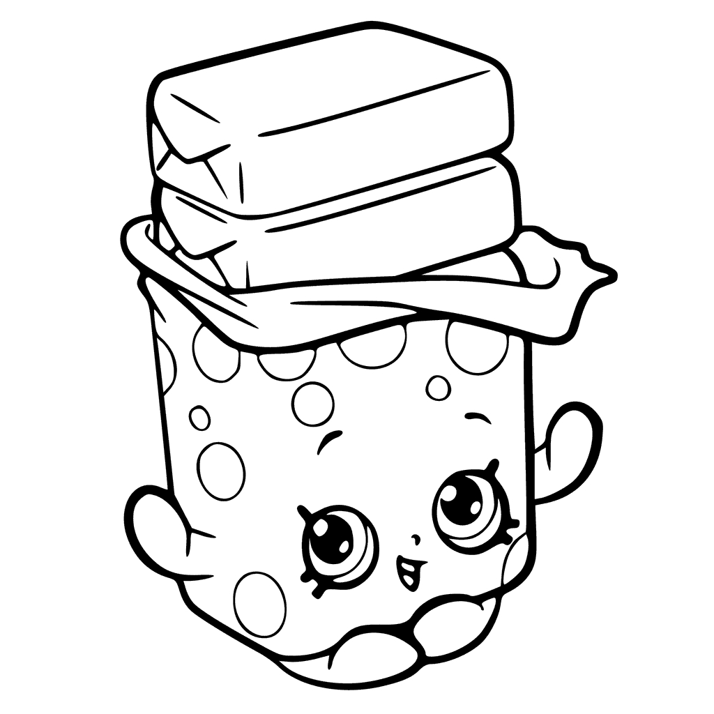 Shopkins Season 6 Bobby Bubble Gum Coloring Page