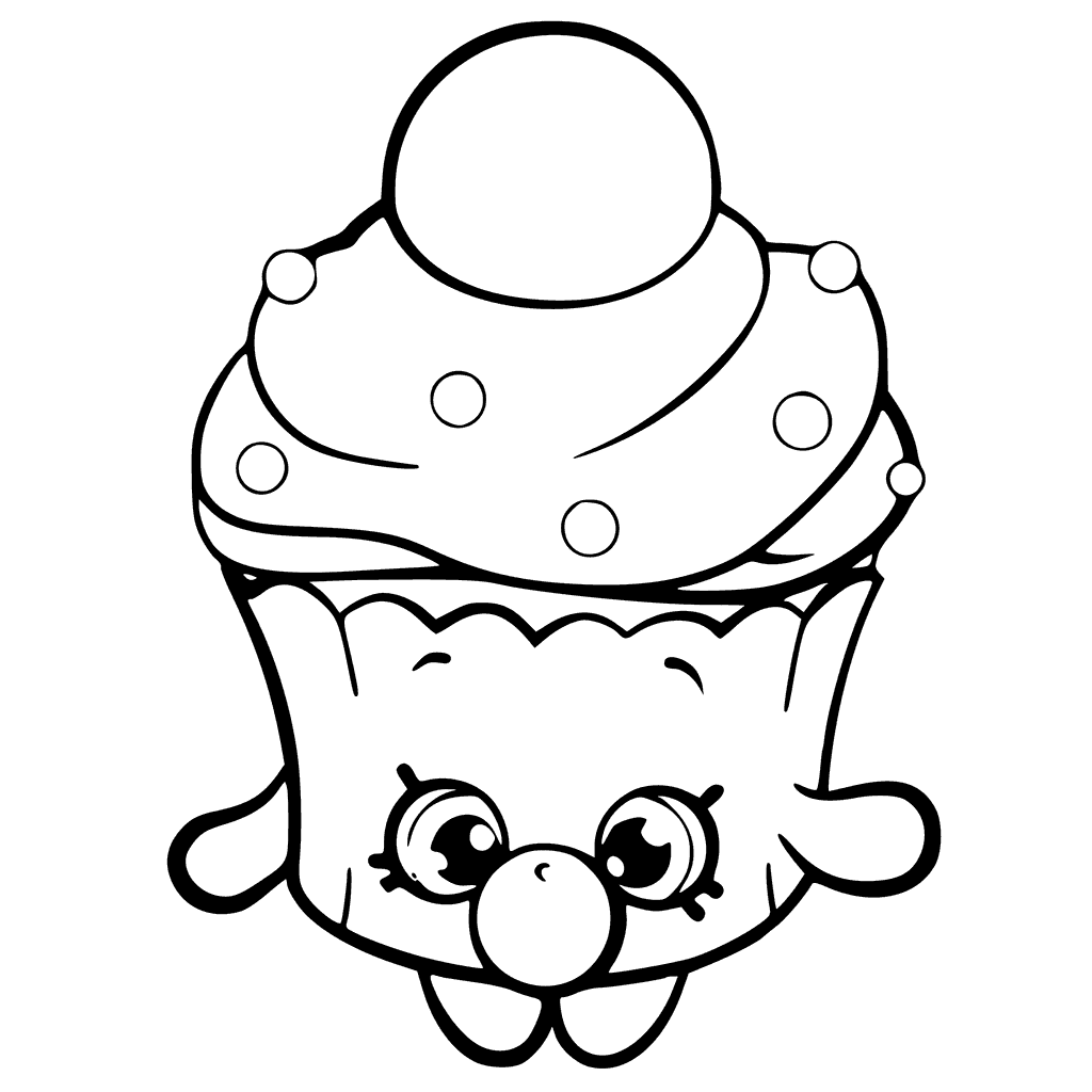 Shopkins Season 6 Bubble Cupcake Coloring Page
