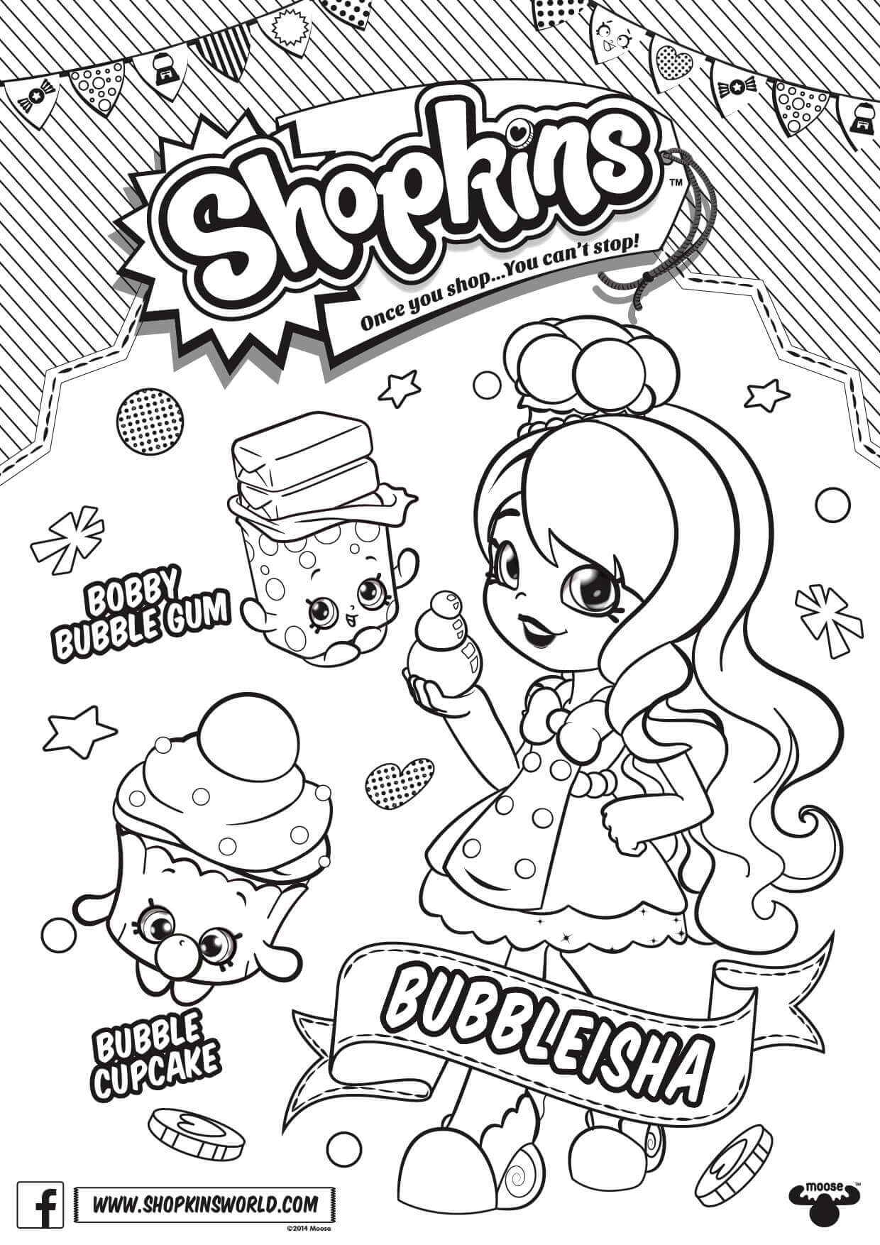 Shopkins Season 6 BubbleIsha Coloring Page