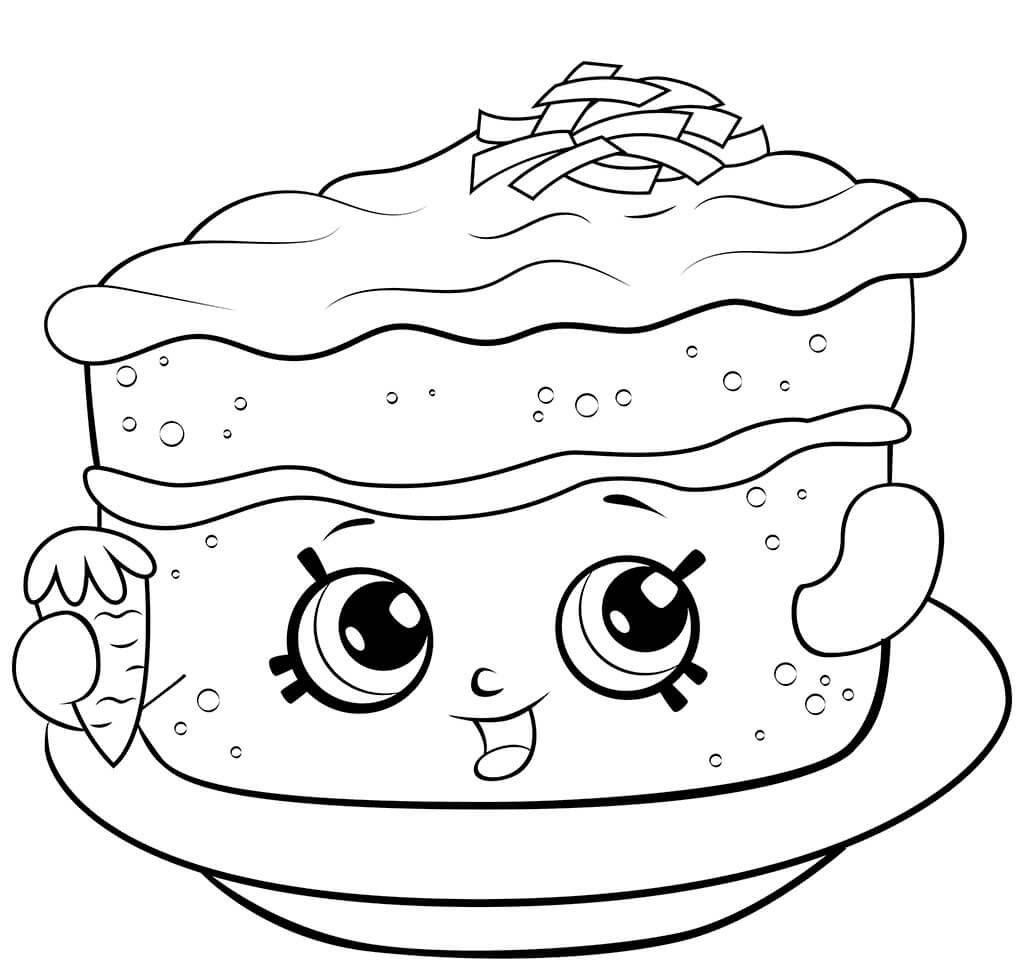 Shopkins Season 6 Carrot Cake Coloring Page