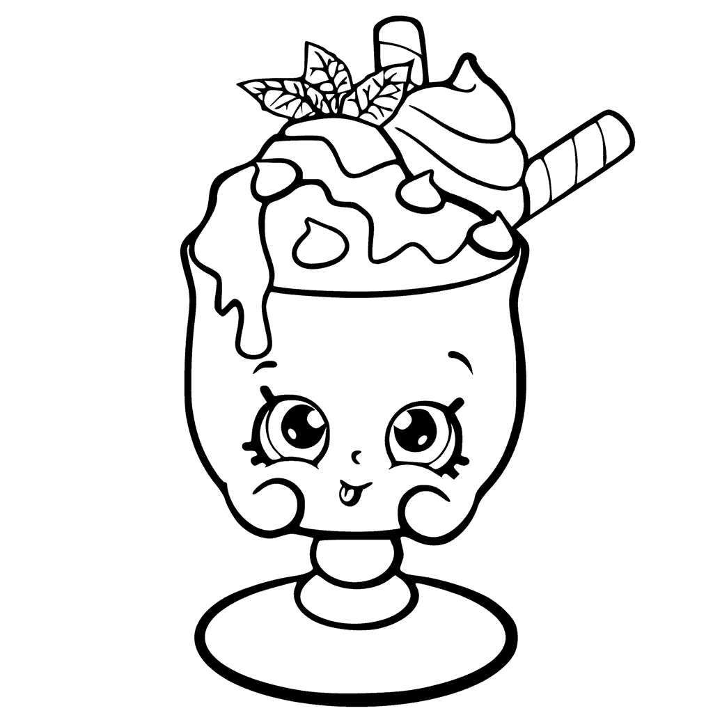 Shopkins Season 6 Choc Mint Charlie Coloring Page