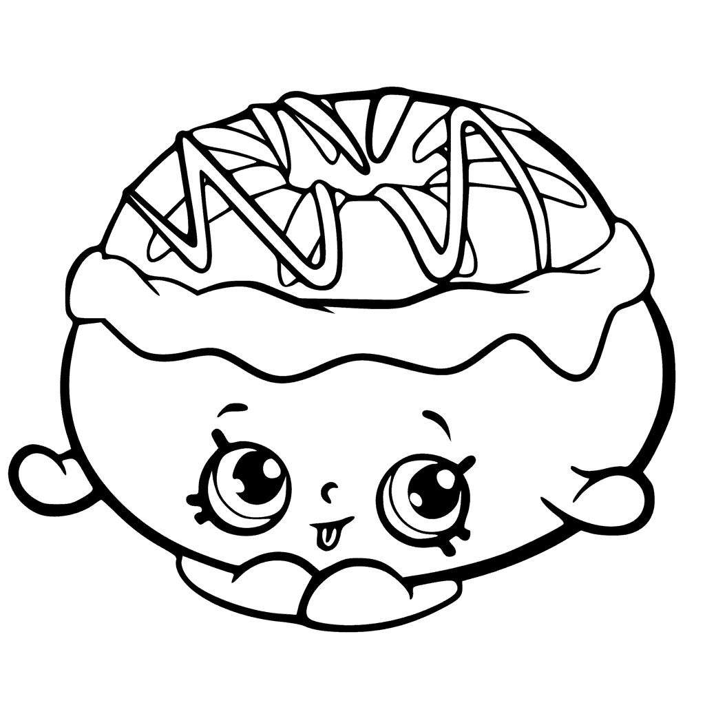 Shopkins Season 6 Chrissy Cream Coloring Page