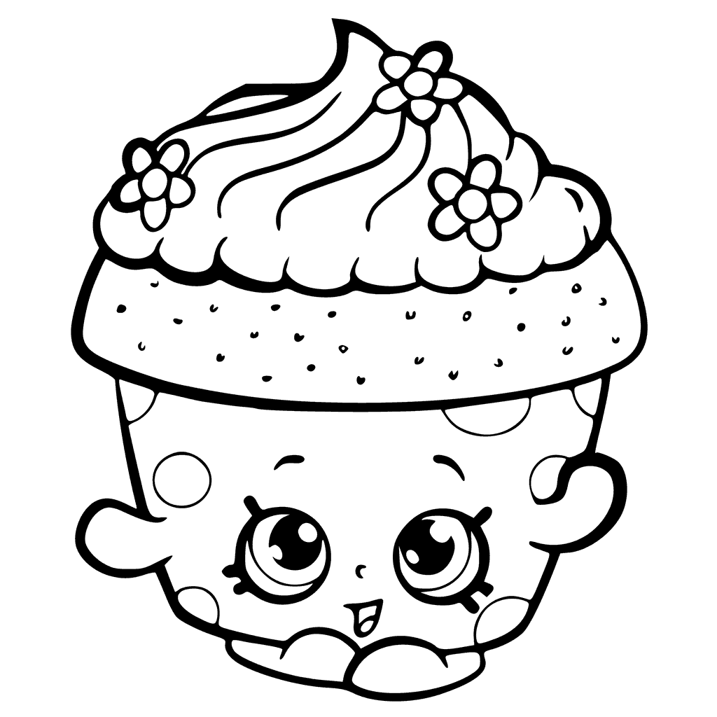 Shopkins Season 6 Cupcake Petal Coloring Page