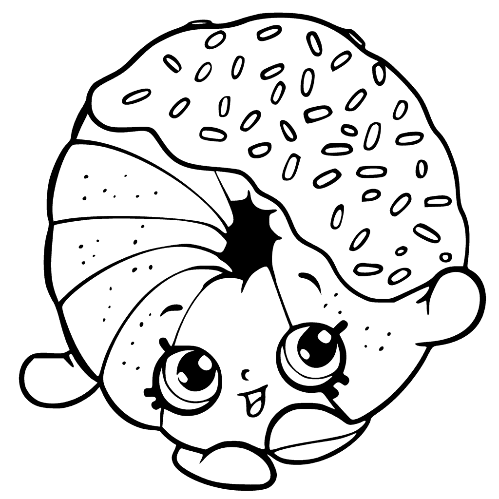 Shopkins Season 6 Dippy Donut Coloring Page