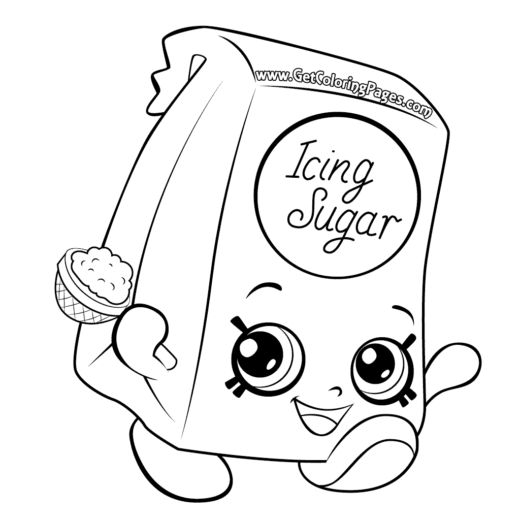 Shopkins Season 6 Kane Sugar Coloring Page
