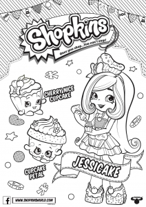 Shopkins Season 6 Jessicake Coloring Page
