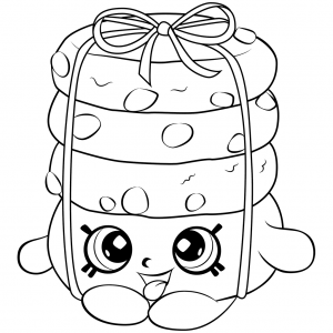 Shopkins Season 6 Stacks Cookie Coloring Page