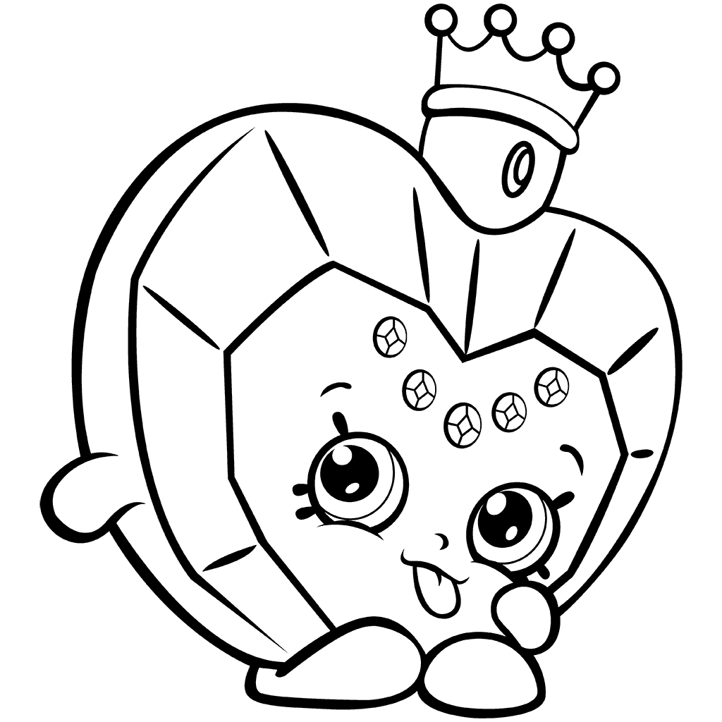 Shopkins Season 7 Big Hearted Princess Scent Coloring Page