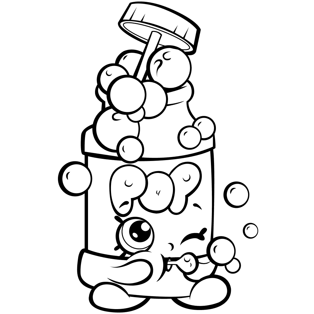 Shopkins Season 7 Pops Bubble Blower Coloring Page