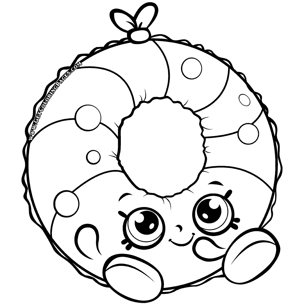 Shopkins Season 7 Polly Pool Ring Coloring Page