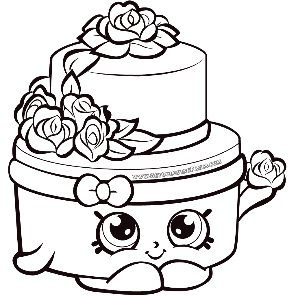 Shopkins Season 7 Wedding Cake Coloring Page