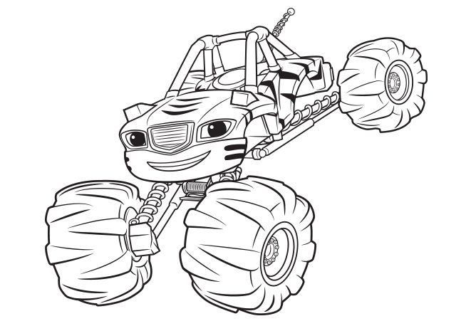 Blaze and the monster machines Stripes coloring page