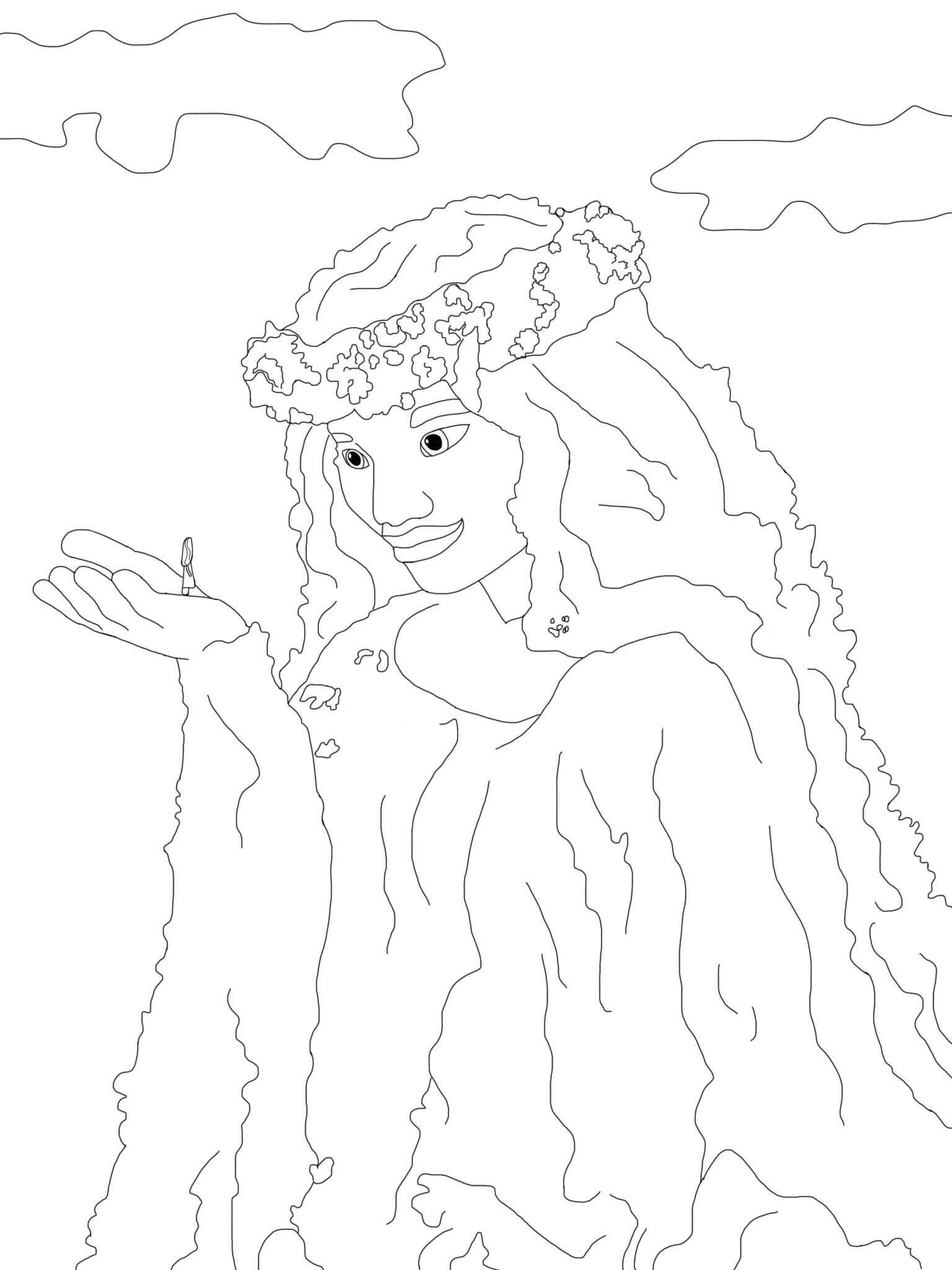 Te Fiti Coloring Page
