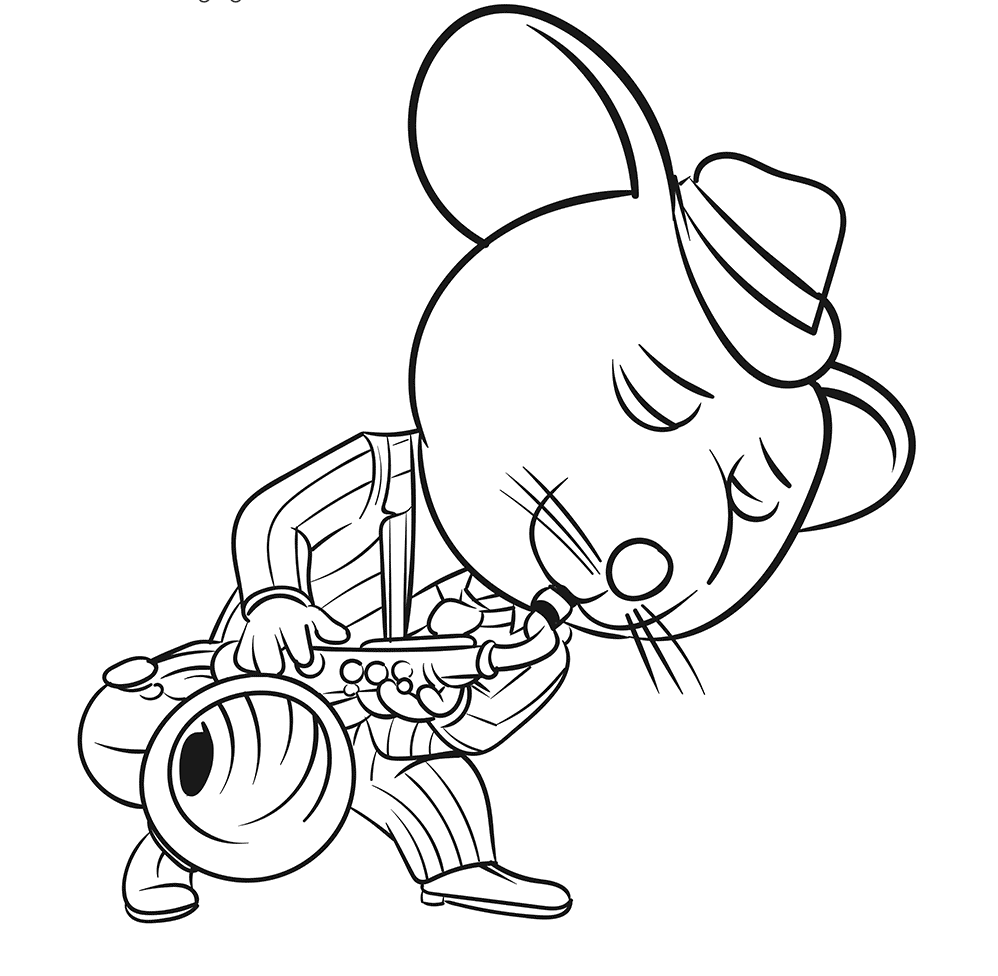 Mike The Crooning Con Sing Movie Coloring Page