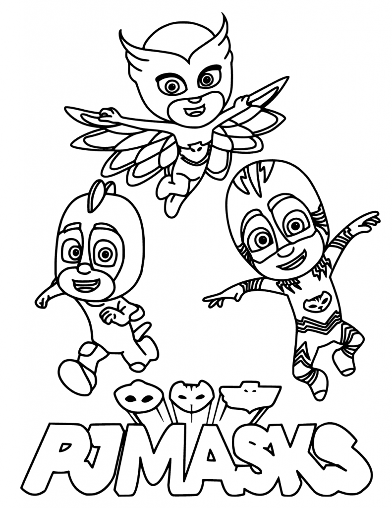 PJ Masks Gang Members Coloring Page