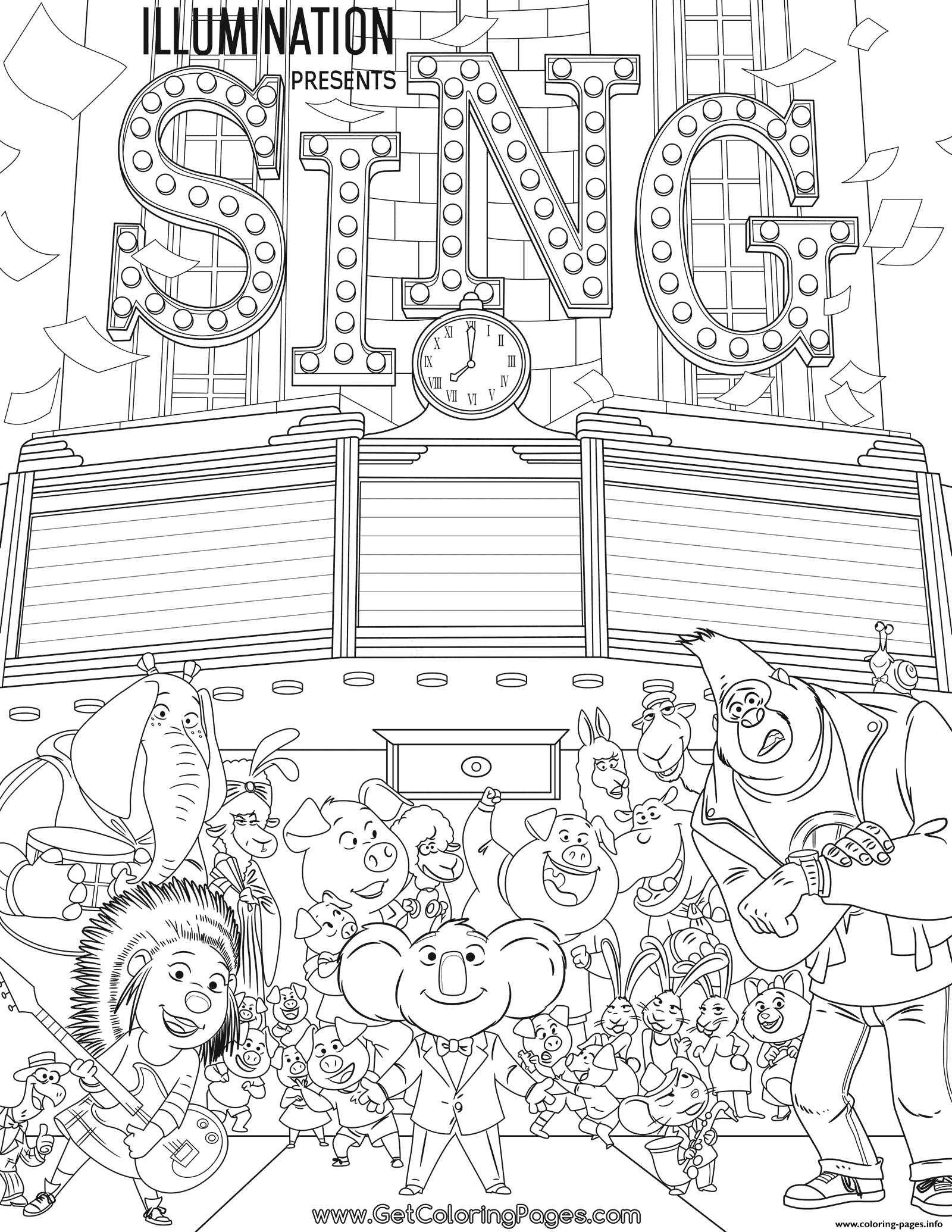Sing Movie Coloring Page