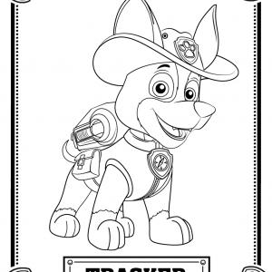 tracker coloring page - Paw Patrol Coloring Pages