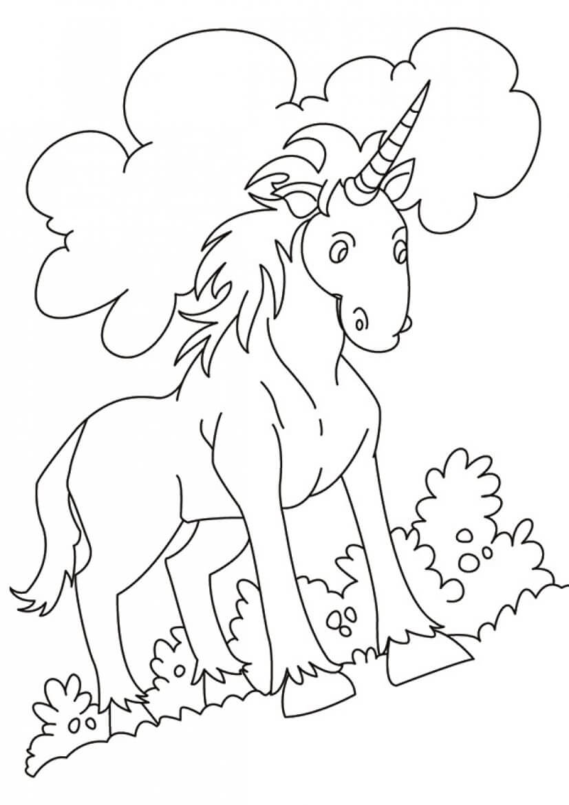 Indian Unicorn coloring page