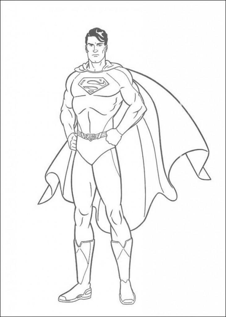 Superman Superhero Coloring Pages