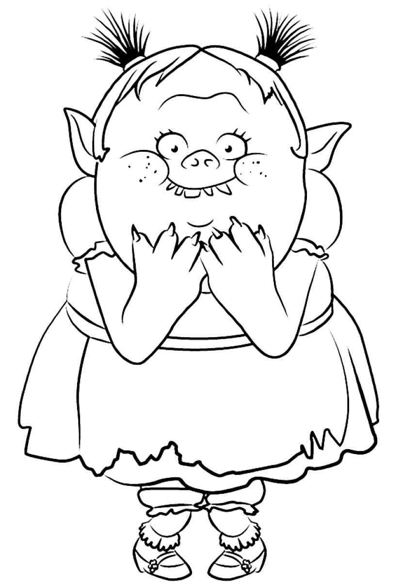 30 printable trolls movie coloring pages for Branch trolls coloring pages
