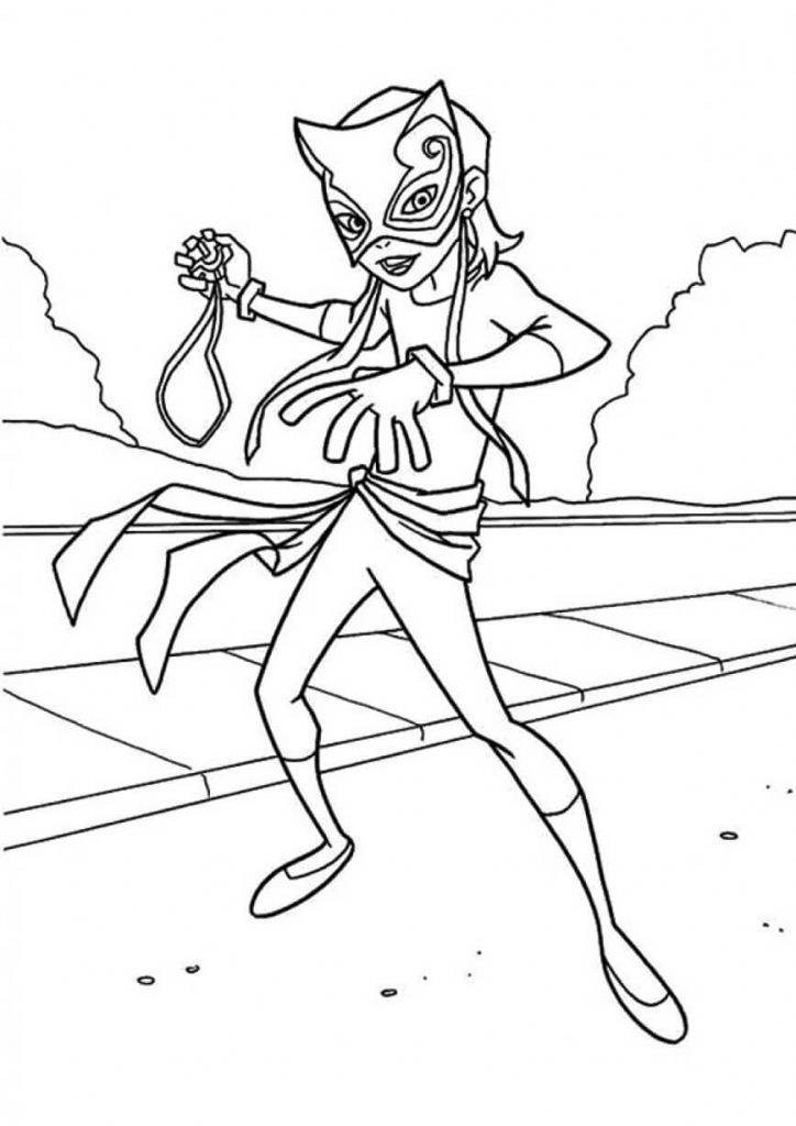 Catwoman Superhero Coloring Pages