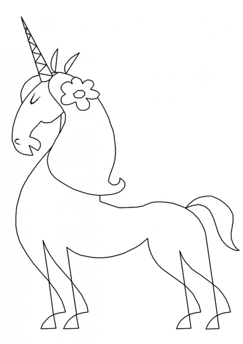 Persian Unicorn coloring page