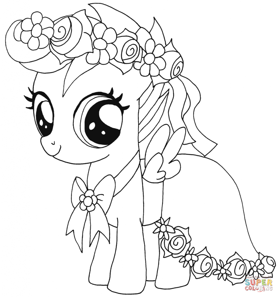 Scootaloo My Little Pony Coloring Pages