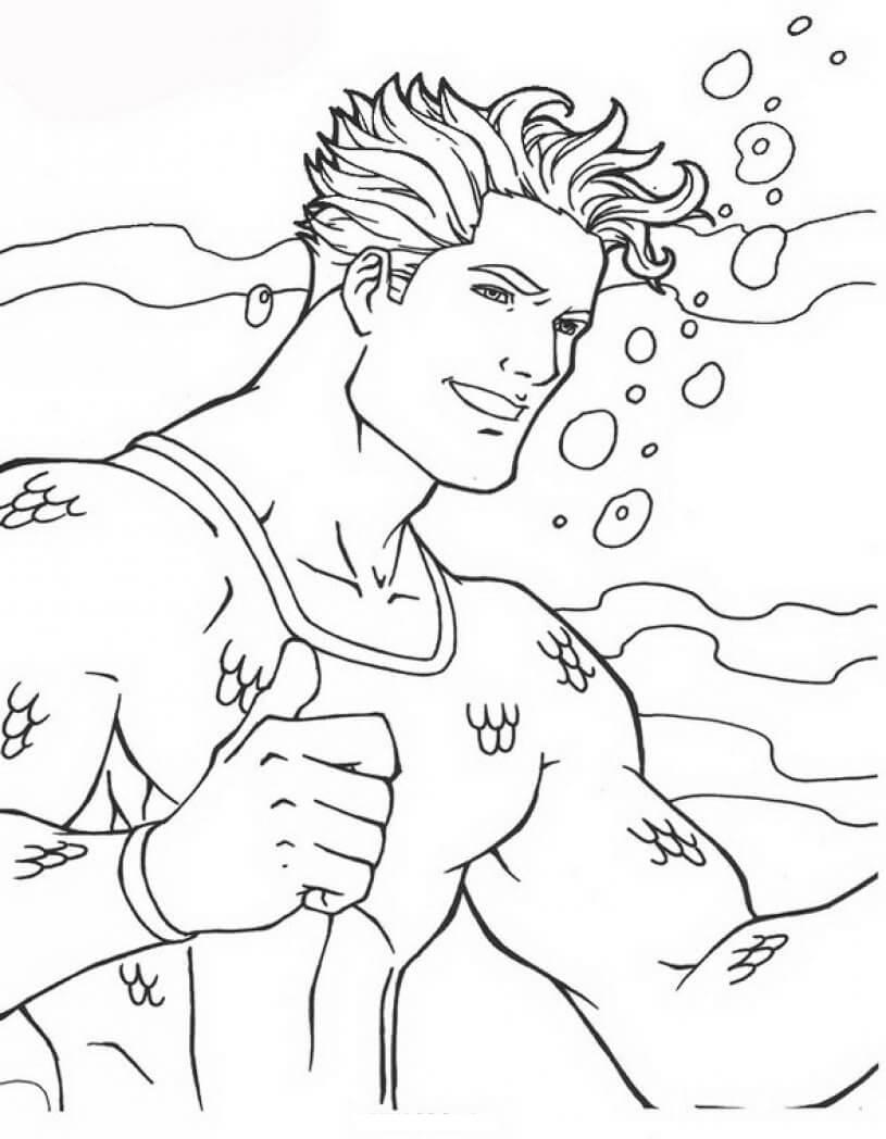 Aquaman Coloring Page