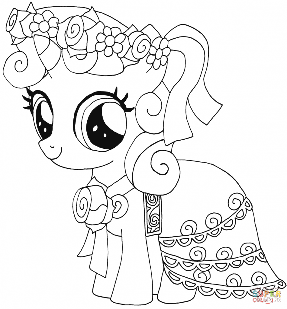 Sweetie Belle My Little Pony coloring page