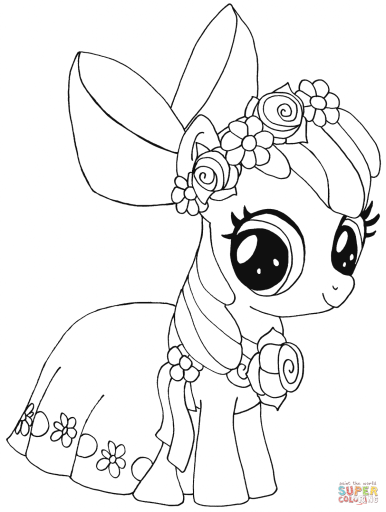 Apple-bloom My Little Pony coloring page