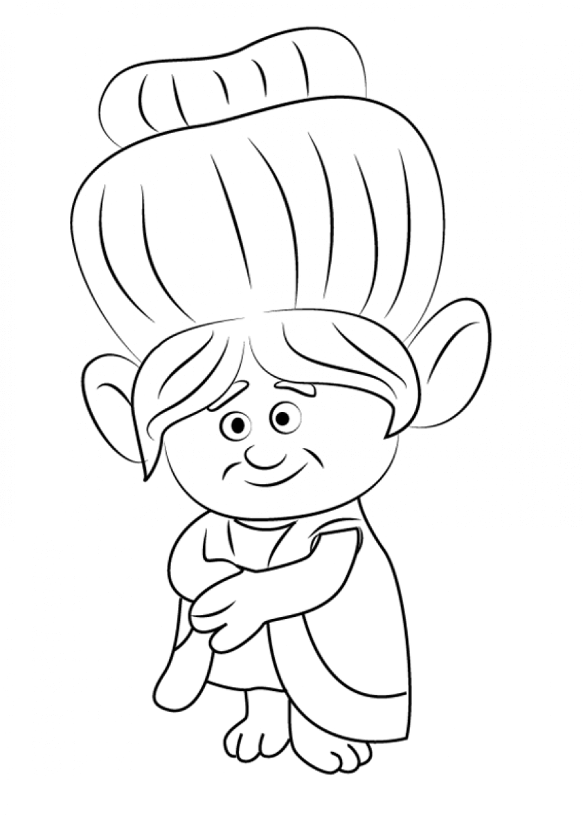 Scribbles Drawing And Coloring Book : Printable trolls movie coloring pages