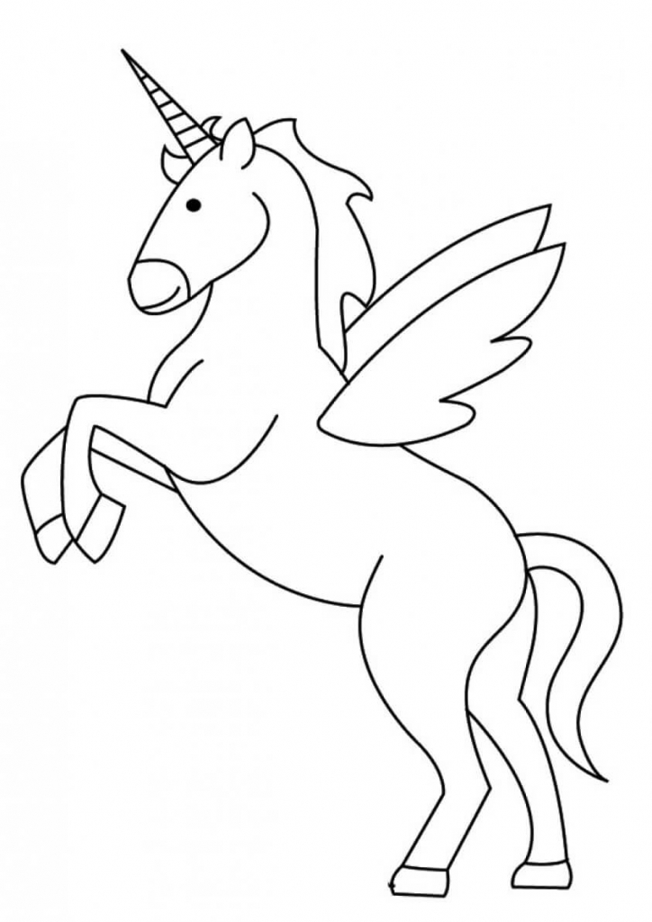 Japanese Unicorn coloring page