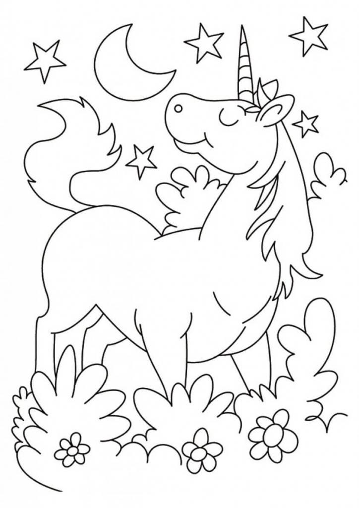 Karkadann unicorn coloring page