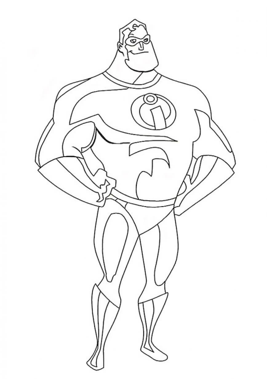 Mr. Incredible Coloring Page