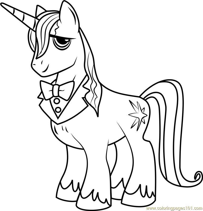 Prince blueblood My Little Pony coloring page
